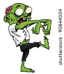 cartoon zombie with exposed... | Shutterstock .eps vector #90844034