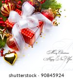 Christmas Card With Gift Boxes...