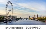 london morning. london eye ... | Shutterstock . vector #90849980