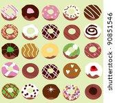 doughnut background for... | Shutterstock .eps vector #90851546