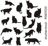 cat vector shapes | Shutterstock .eps vector #9085520