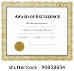 vector award of excellence... | Shutterstock .eps vector #90858854