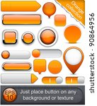 blank orange web buttons for... | Shutterstock .eps vector #90864956