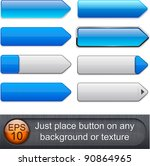 blank blue web buttons for... | Shutterstock .eps vector #90864965