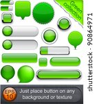 blank green web buttons for... | Shutterstock .eps vector #90864971