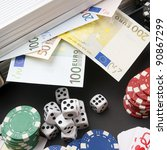 background gambling with euro... | Shutterstock . vector #90867299