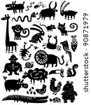 icon animal set | Shutterstock .eps vector #90871979
