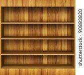 3d wooden book shelf | Shutterstock . vector #90883820