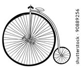 Doodle Style Antique Bicycle...