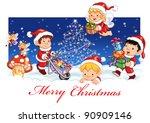 merry christmas | Shutterstock . vector #90909146