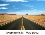 US 163, the scenic road to Monument Valley, Arizona - stock photo