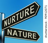 nurture or nature directions on ... | Shutterstock . vector #90912071