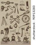 vintage tools | Shutterstock . vector #90913283