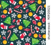 two christmas seamless... | Shutterstock . vector #90920021