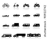 Stock vector icons set cars 90922742