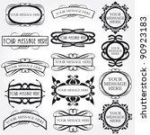 vector frame set ornamental... | Shutterstock .eps vector #90923183