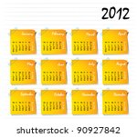 calendar for 2012 with stick... | Shutterstock .eps vector #90927842