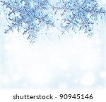 christmas tree green border... | Shutterstock . vector #90945146