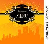 restaurant menu  vector...   Shutterstock .eps vector #90945824
