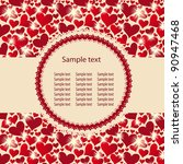 hearts background raster... | Shutterstock . vector #90947468