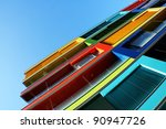 colorful house in budapest ...   Shutterstock . vector #90947726