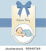 little baby boy sleep with his... | Shutterstock .eps vector #90949769