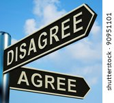 disagree or agree directions on ...   Shutterstock . vector #90951101