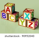 Kids Wooden Blocks With Abc An...