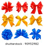 big set of colorful gift bows... | Shutterstock .eps vector #90952982