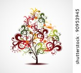 colorful creative christmas... | Shutterstock .eps vector #90953945