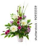 Bright Flower Bouquet In Baske...