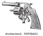 colt revolver  vintage engraved ...