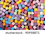 Colorful Square Foam Cubes...