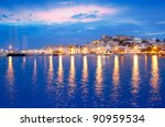 Ibiza Island Night View Of...