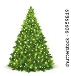 christmas tree. vector | Shutterstock .eps vector #90959819