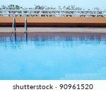 Swimming Pool With Blue Water...