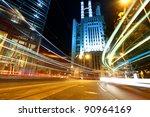 traffic with blur light through ... | Shutterstock . vector #90964169