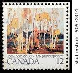 canada   circa 1977   a stamp... | Shutterstock . vector #90972314
