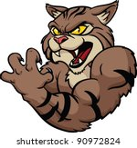 fierce looking wildcat mascot.... | Shutterstock .eps vector #90972824