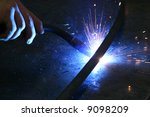 Stock photo hand welding 9098209