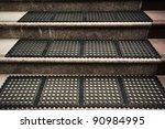 Stair concrete - stock photo
