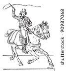 postilion or postillion ... | Shutterstock .eps vector #90987068
