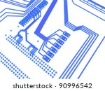 sketch of an electronic... | Shutterstock . vector #90996542