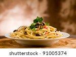 delicious vegetarian dish of... | Shutterstock . vector #91005374