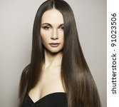 fashion photo of beautiful...   Shutterstock . vector #91023506