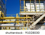 cloe up of piping at a factory | Shutterstock . vector #91028030