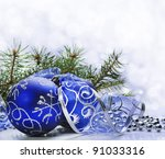 Blue Christmas Ornament With...