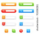 search buttons and icons | Shutterstock .eps vector #91038281
