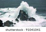 Waves In The Atlantic Ocean On...
