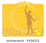 tennis player. clay court.... | Shutterstock .eps vector #9104221